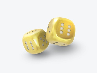 Dice 3Dicon gambling golddice gold casinoicon casino dice design icondesigner icondesign illustration 3dicon 3d icon