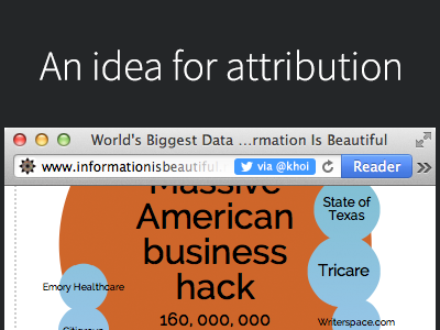 An idea for attribution