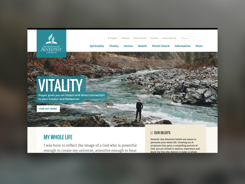 A design system for the Seventh-day Adventist Church case study church design systems