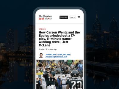 Philly.com philly philadelphia lean mvp redesign news mobilefirst mobile