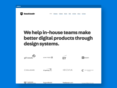 New SuperFriendly site portfolio agency design systems