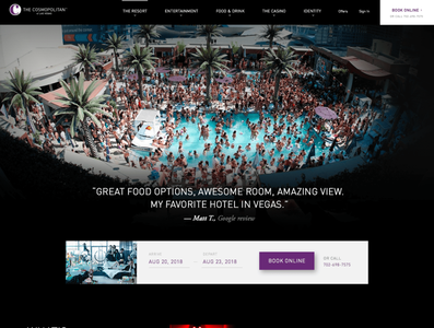 The Cosmopolitan of Las Vegas resort casino hotel homepage designsystems hospitality