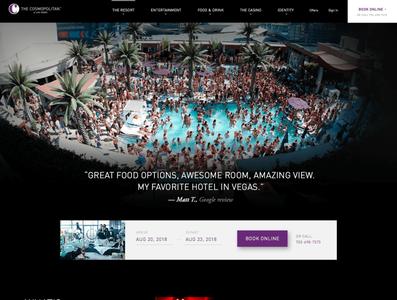 The Cosmopolitan of Las Vegas resort casino hotel homepage designsystems hospitality