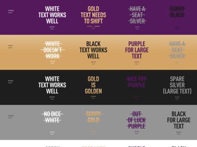 Testing color contrast ratios