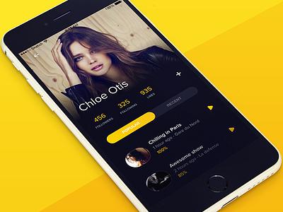 social app profile mobile app design ux ui