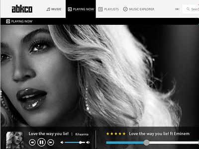 ABKCO Web based Music player ux website ui web design