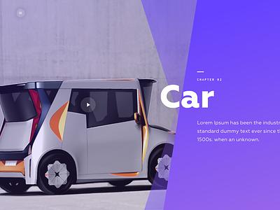 Chapter 2  Intro for Car website vector logo illustration animation web website design ux ui