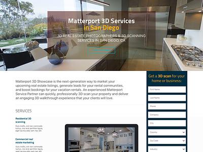 New version of Matterport website landing page illustration vector logo animation website web ux ui design