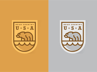 Bear Country Patch Design