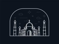 Taj Mahal Illustration