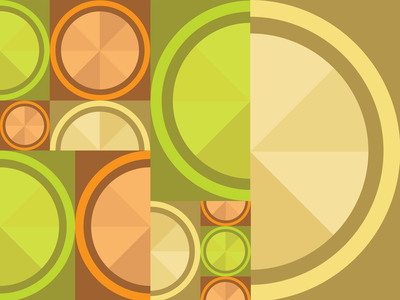 Geometric Fruit Pattern