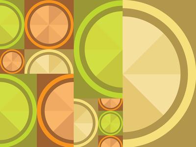 Geometric Fruit Pattern