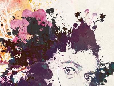 Dali Poster abstract layered poster illustration digital art