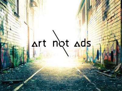 Art Not Ads identity logo identity geometric abstract typography logotype