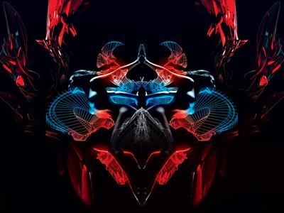 Geminon abstract 3d poster illustration digital art
