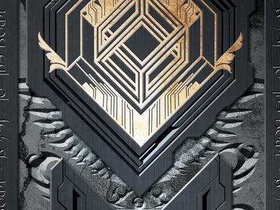 The Ancient Key branding illustration digital art