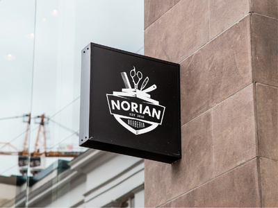 NORIAN - Logo Proposal haircut barberia logotype barbershop barber entrepreneur logo branding brand concept designer design