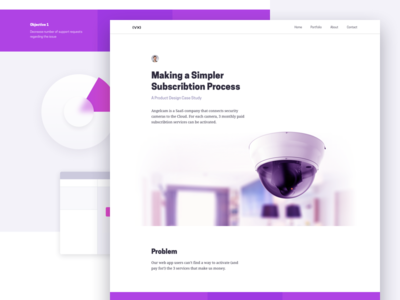 A Product design case study page ux site web portfolio study case design product