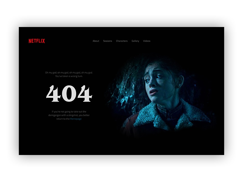 404 Page I Daily UI #008 stranger 404 error page 404 page website design desktop user experience user interface design website daily ui concept ux ui