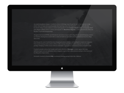 Bio (Personal Website) personal site personal website design website