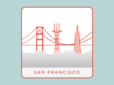 San Francisco karl fog transamerica pyramid sutro tower golden gate bridge san francisco design flat
