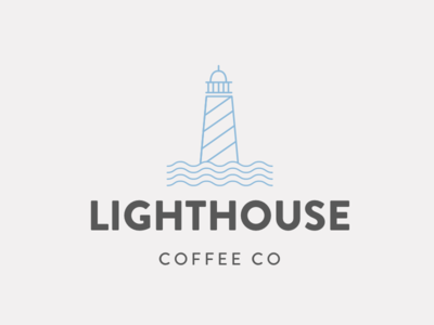 Brand Identity – Lighthouse Coffee Co logo blue flat simple brandon grotesque brand lighthouse coffee