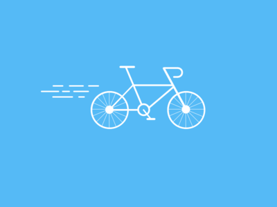 Bicycle bike flat simple illustration blue bicycle