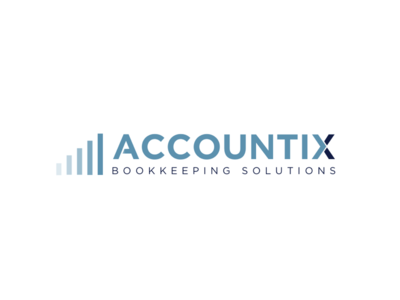 Accountix Logo accounting finance graphic design design logo