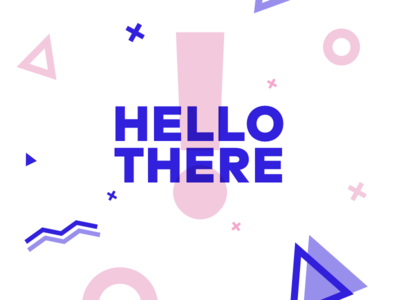 Hello! shapes typography flat
