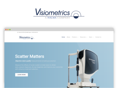 Visiometrics Website logo photography flat website visiometrics