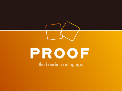 Proof Logo logo app orange gradient ice bourbon proof