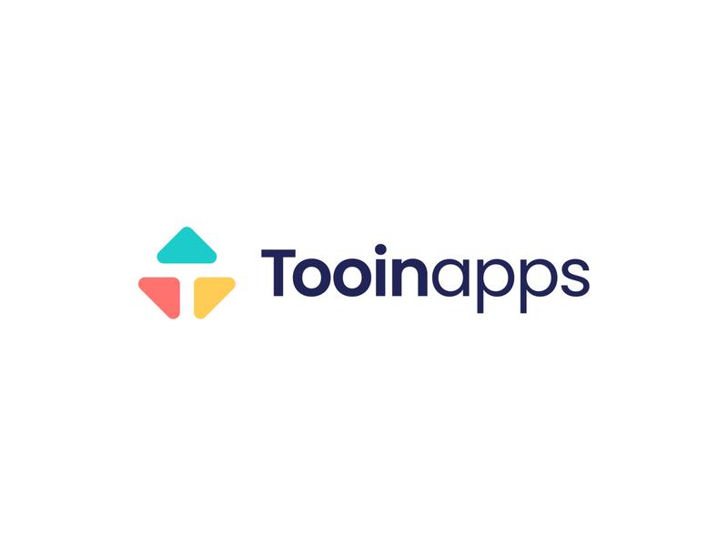 Tooinapps app development mobile branding typography branding design vector logomark logodesign design logo