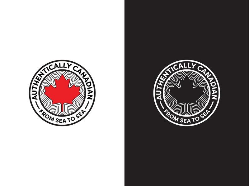 Authentically Canadian canada canadian authentic authentically logocorechallenge vector logomark logochallenge design logocore logodesign logo