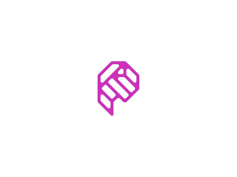 Letter P lettermark logodesign logomark logo design typedesign typography art typography letter p letter type 36daysoftype-p 36daysoftype06 36daysoftype