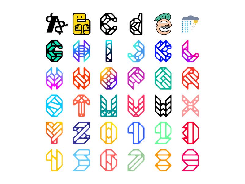 Complete Set numbers lettermark logodesign logomark logo design typedesign typography art typography letters letter type complete 36daysoftype06 36daysoftype