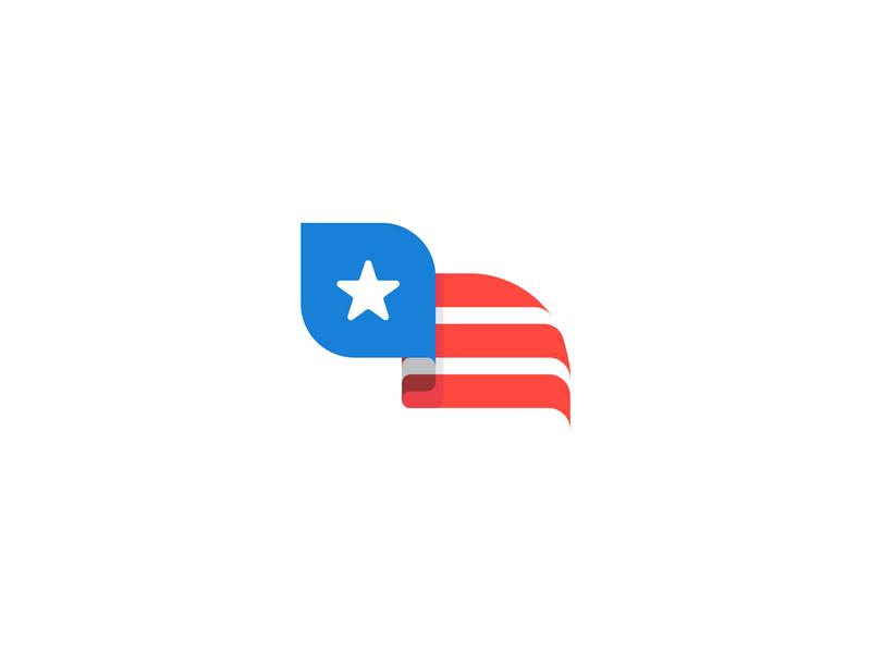 Eagle Head Flag logodesign vector logomark design 4th of july white red blue mark logo flag usa eagle logo eagle