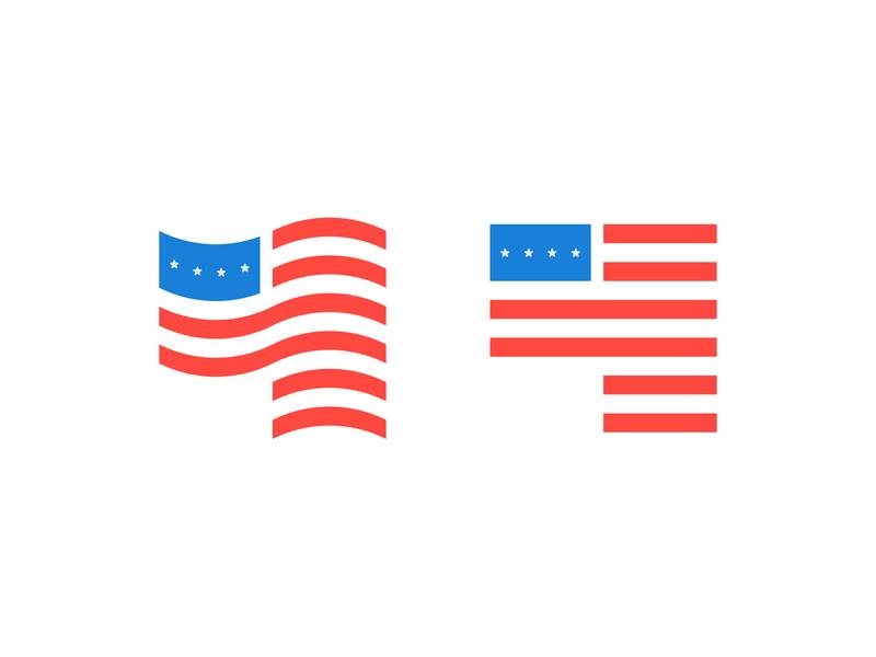 4th of July Flag stars logomark vector design logodesign white blue red logo minimal 4th of july 4th flag usa