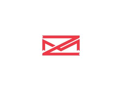 ZM monogram red color letter z letter m lettermark letter branding design vector logomark logodesign design logo