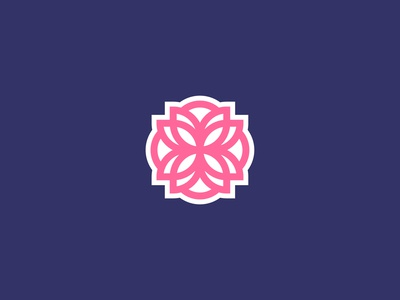 Flower Badge badge logo badge flower logo flower branding branding design vector logomark logodesign design logo
