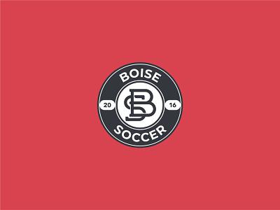 Boise Soccer Badge soccer badge badge monogram logo monogram letter branding design vector logomark logodesign design logo