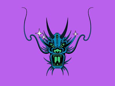 Dragon flat vector illustration design