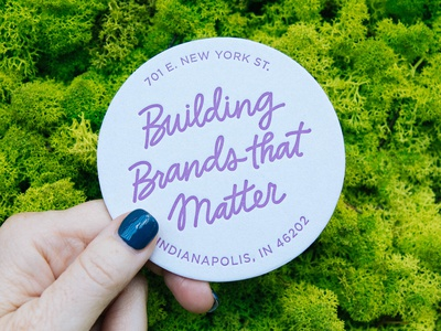 Hand Lettered Coaster