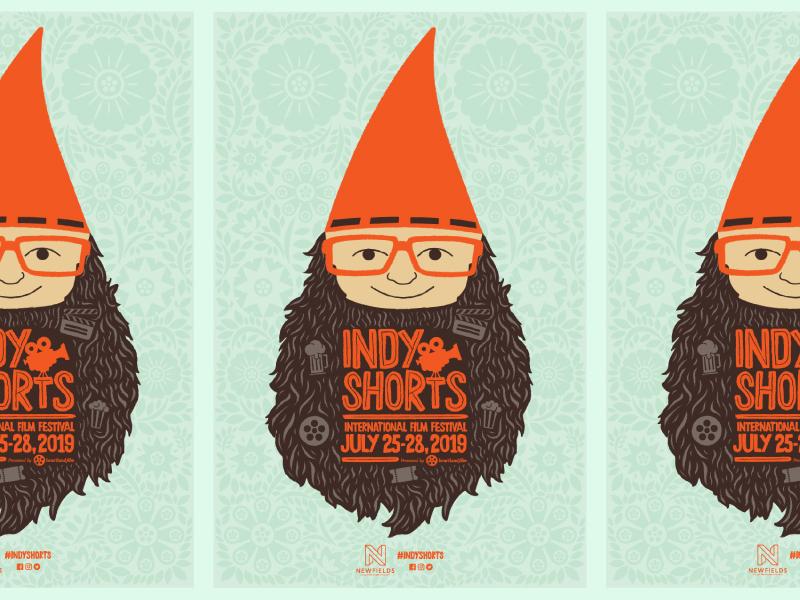 Indy Shorts Poster film illustration gnome film poster film festival