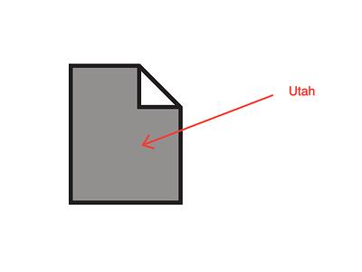 Fileshape Utah file icon utah