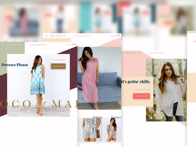 Clothing store redesign explorations color palette hero section e-commerce