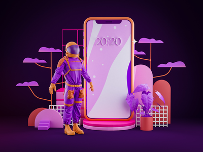 Astro web design graphic design cinema 4d art direction low poly illustration iphone visual blender 3d astronauts