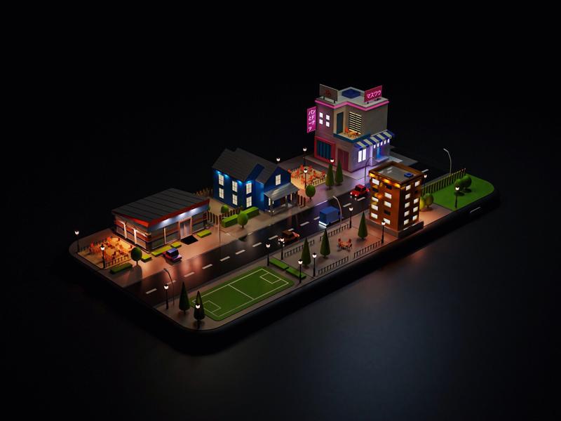 Phone City by Wawan Saputra on Dribbble