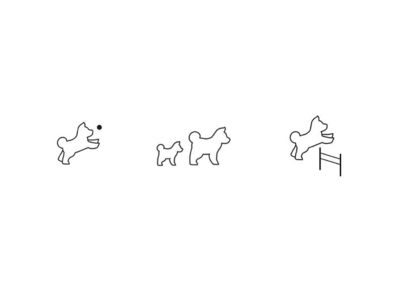 More doggie icons for Park Bark App app icons shiba inu app shiba black and white minimal thin icons puppies dogs dog park park app