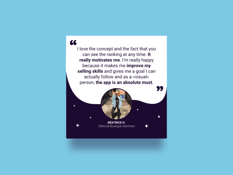 Testimonial stars usercard user instagram space endvr quote testimonial