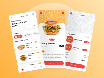 Food Delivery App interface food app design food app minimal icon ux design ui
